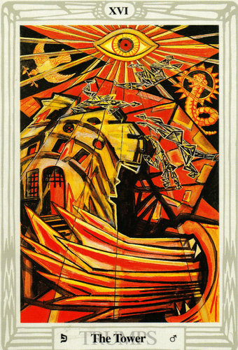The Tower – Aleister Crowley Thoth Tarot