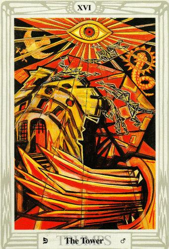 Ý nghĩa lá The Tower trong bộ bài Thoth Tarot