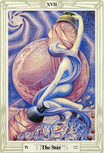 Ý nghĩa lá The Star trong bộ bài Aleister Crowley Thoth Tarot