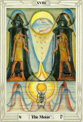 The Moon – Aleister Crowley Thoth Tarot