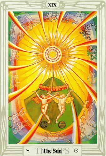 Ý nghĩa lá The Sun trong bộ bài Thoth Tarot