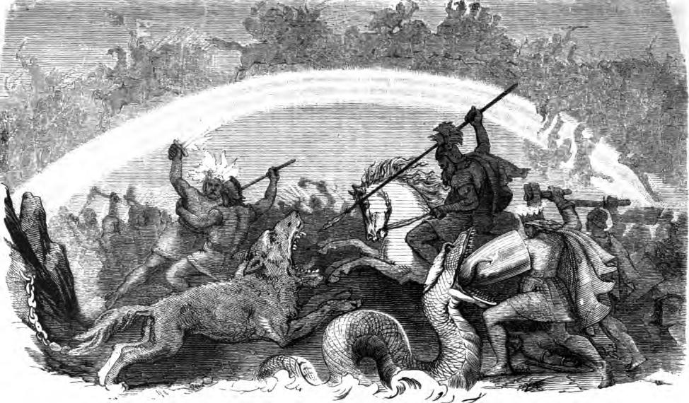 Trận chiến của các vị thần (1882) – tranh của Friedrich Wilhelm Heine