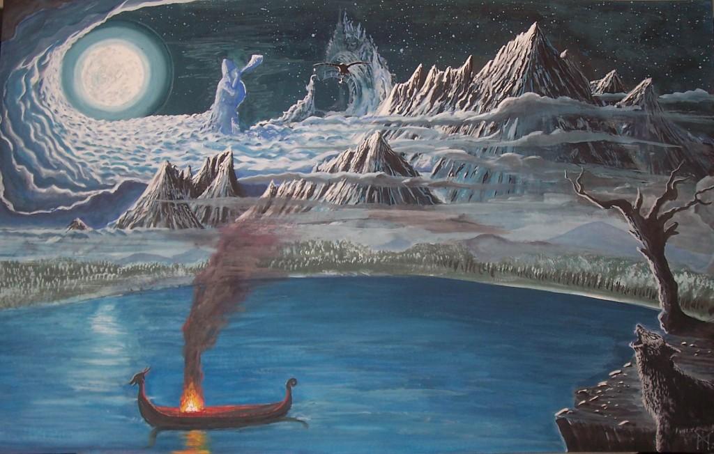 Miðgarðr (2007) – tranh của Miroslav Zapletal