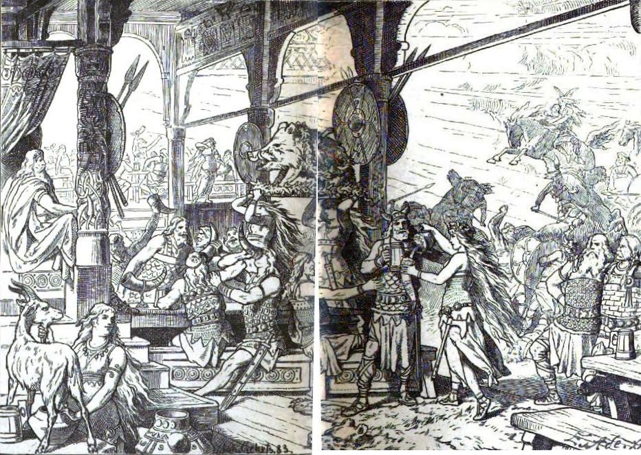 Valhalla (1885) – tranh của Johannes Gehrts