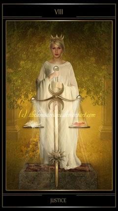 Ý nghĩa lá XI. Justice trong bộ bài Thelema Tarot
