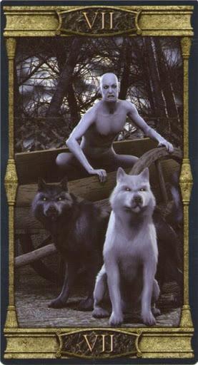 Ý nghĩa lá VII. The Chariot trong bộ bài Vampires Tarot of the Eternal Night
