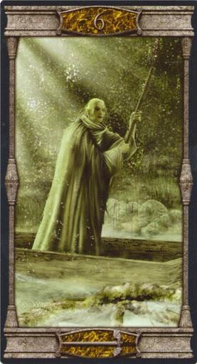 Lá 6 of Swords – Vampires Tarot of the Eternal Night