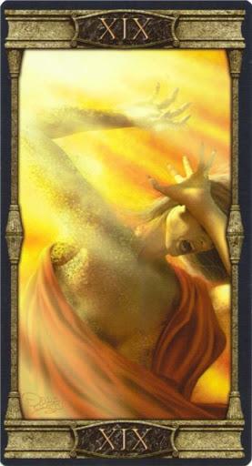 Ý nghĩa lá XIX. The Sun trong bộ bài Vampires Tarot of the Eternal Night