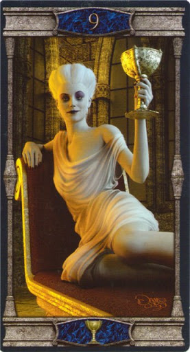 Lá 9 of Cups – Vampires Tarot of the Eternal Night