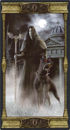 Ý nghĩa lá 0. The Fool trong bộ bài Vampires Tarot of the Eternal Night