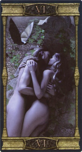 Ý nghĩa lá VI. The Lovers trong bộ bài Vampires Tarot of the Eternal Night