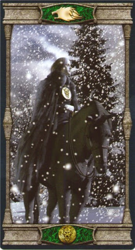 Ý nghĩa lá Knight of Pentacles trong bộ bài Vampires Tarot of the Eternal Night