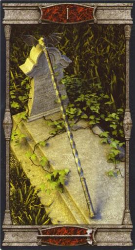 Ý nghĩa lá Ace of Wands trong bộ bài Vampires Tarot of the Eternal Night