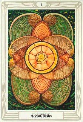 Ý nghĩa lá Ace of Disks trong bộ bài Aleister Crowley Thoth Tarot