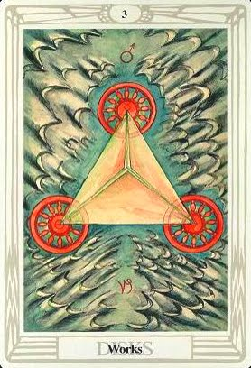 Lá Three of Disks – Aleister Crowley Thoth Tarot