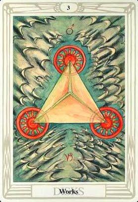 Ý nghĩa lá Three of Disks trong bộ bài Aleister Crowley Thoth Tarot