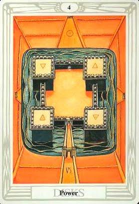 Ý nghĩa lá Four of Disks trong bộ bài Aleister Crowley Thoth Tarot
