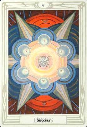 Ý nghĩa lá Six of Disks trong bộ bài Aleister Crowley Thoth Tarot
