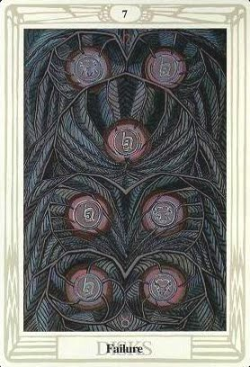 Lá Seven of Disks – Aleister Crowley Thoth Tarot