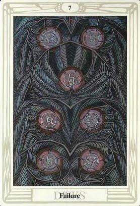 Ý nghĩa lá Seven of Disks trong bộ bài Aleister Crowley Thoth Tarot