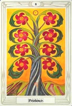 Ý nghĩa lá Eight of Disks trong bộ bài Aleister Crowley Thoth Tarot