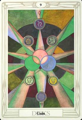 Ý nghĩa lá Nine of Disks trong bộ bài Aleister Crowley Thoth Tarot
