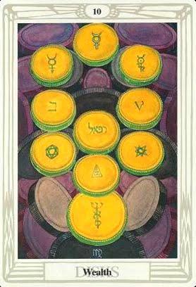Ý nghĩa lá Ten of Disks trong bộ bài Aleister Crowley Thoth Tarot