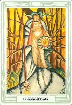 Ý nghĩa lá Princess of Disks trong bộ bài Aleister Crowley Thoth Tarot