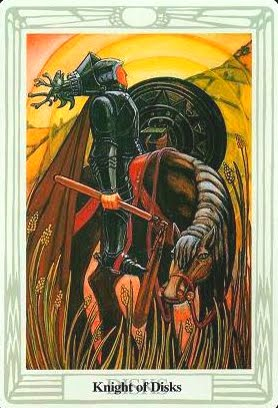 Ý nghĩa lá Knight of Disks trong bộ bài Aleister Crowley Thoth Tarot