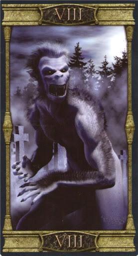 Ý nghĩa lá VIII. Strength trong bộ bài Vampires Tarot of the Eternal Night