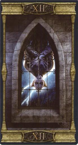 Lá XII. The Hanged Man – Vampires Tarot of the Eternal Night