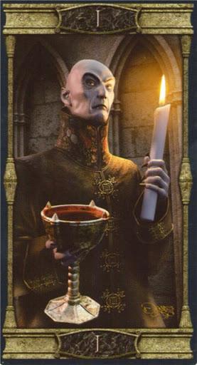 Ý nghĩa lá I. The Magician trong bộ bài Vampires Tarot of the Eternal Night