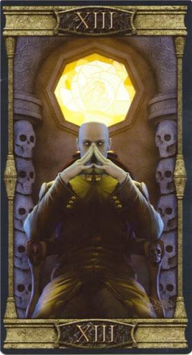 Ý nghĩa lá XIII. Death trong bộ bài  Vampires Tarot of the Eternal Night