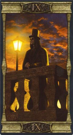 Ý nghĩa lá IX. The Hermit trong bộ bài Vampires Tarot of the Eternal Night