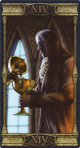 Ý nghĩa lá XIV. Temperance trong bộ Vampires Tarot of the Eternal Night