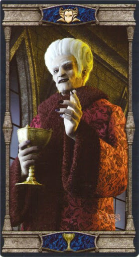 Ý nghĩa lá King of Cups trong bộ bài Vampires Tarot of the Eternal Night