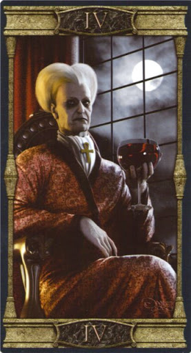 Lá IV. The Emperor – Vampires Tarot of the Eternal Night