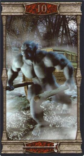 Ý nghĩa lá 10 of Wands trong bộ bài Vampires Tarot of the Eternal Night