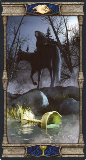 Ý nghĩa lá Knight of Cups trong bộ bài Vampires Tarot of the Eternal Night