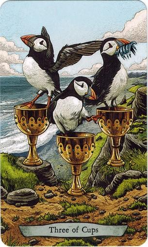 Lá 3 of Cups – Animal Totem Tarot