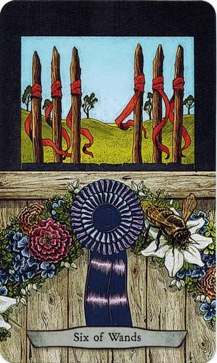 Ý nghĩa lá 6 of Wands trong bộ bài Animal Totem Tarot