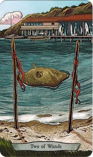 Ý nghĩa lá 2 of Wands trong bộ bài Animal Totem Tarot