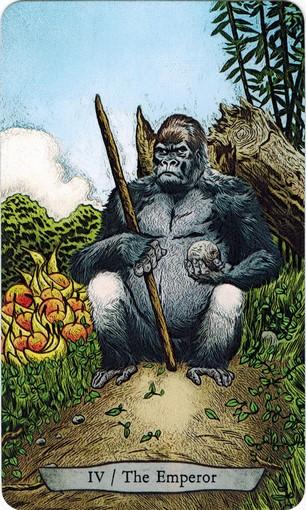 Lá IV. The Emperor – Animal Totem Tarot