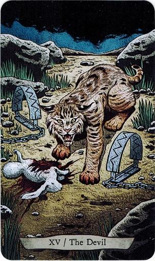 Ý nghĩa lá XV. The Devil trong bộ bài Animal Totem Tarot