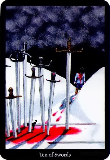 Lá Ten of Swords – Anna K Tarot