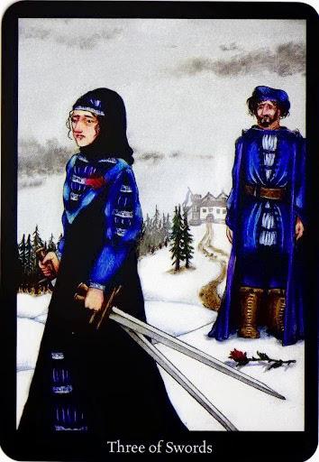 Lá Three of Swords – Anna K Tarot