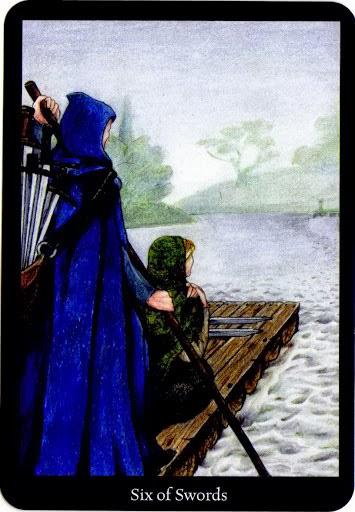 Lá Six of Swords trong bộ bài Anna K Tarot