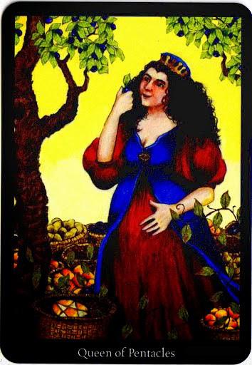 Lá Queen of Pentacles – Anna K Tarot