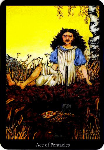 Lá Ace of Pentacles – Anna K Tarot
