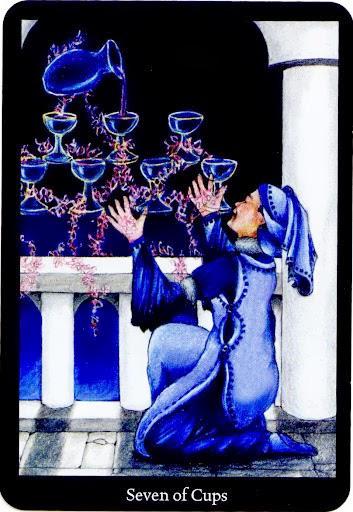 Lá Seven of Cups trong bộ bài Anna K Tarot
